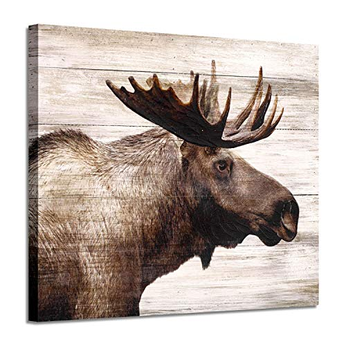 Elk Canvas Pictures Wall Art: Majestic Deer Artwork Prints on Wrapped Canvas Painting Picture for Office (24