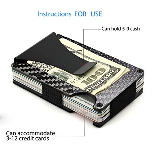 Minimalist-Wallet-Slim-Wallet-RFID-Blocking-Front-Pocket-Wallet-Carbon-Fiber-Wallet-for-Men-And-Women