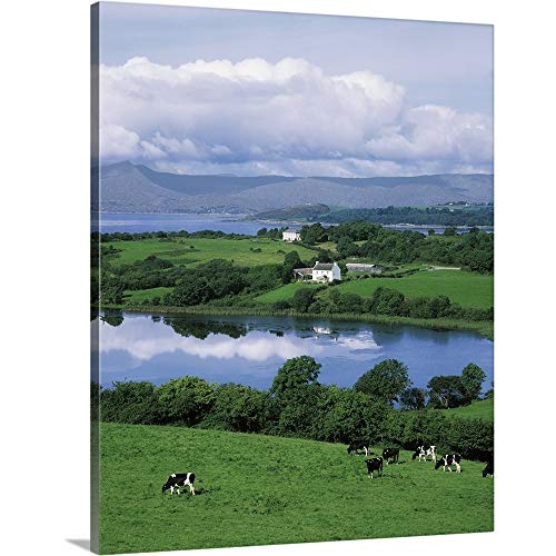 GREATBIGCANVAS Gallery-Wrapped Canvas Entitled Bantry Bay, Co Cork, Ireland by The Irish Image Collection - Bantry Collection