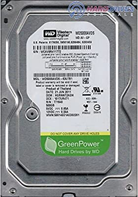 WD AV-GP 500 GB AV Hard Drive: 3.5 Inch, SATA II, 32 MB Cache (WD5000AVDS) (Old Model) from Western Digital