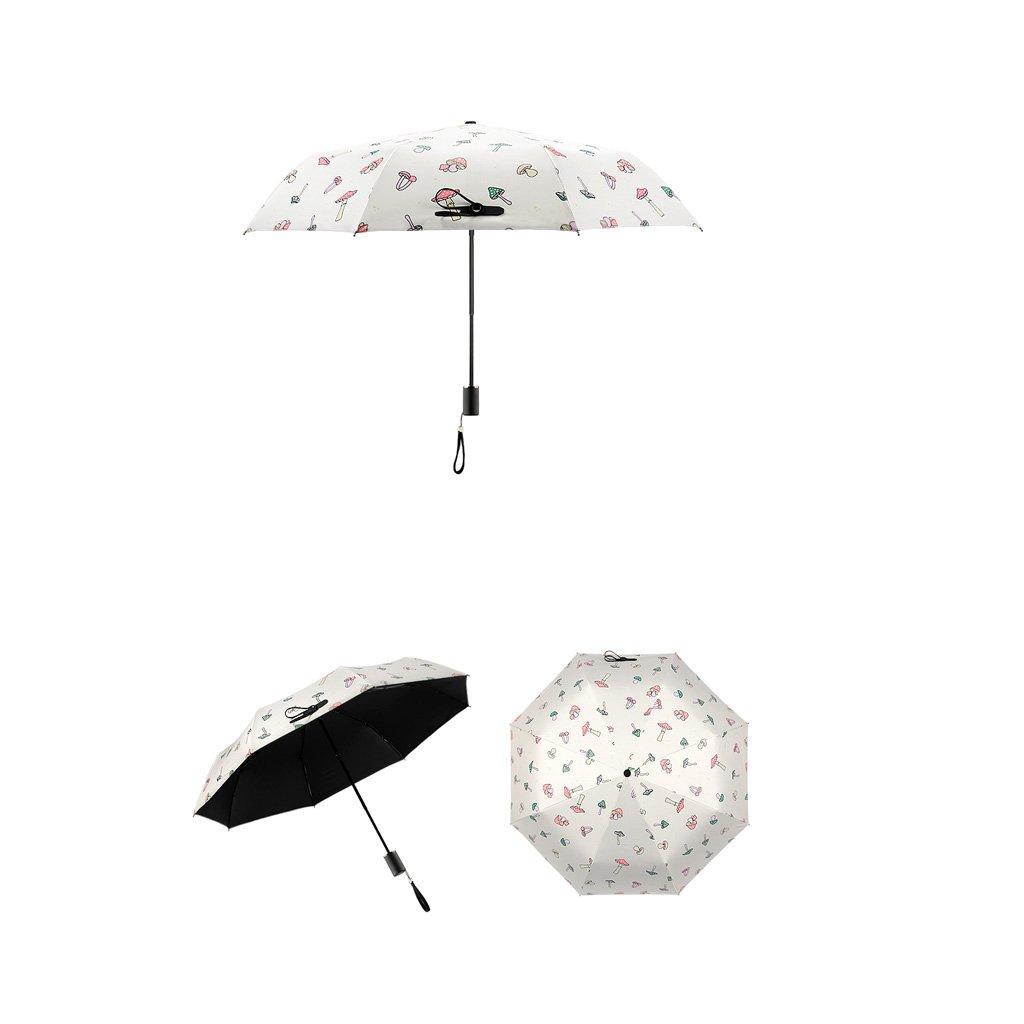Paraguas - resistente al viento marco reforzado seta hembra plegable sol paraguas violeta Anti-ultraviolet sol paraguas 3 Fold paraguas: Amazon.es: Hogar