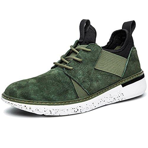 Four Paws Vita Greens (RAINSTAR Men Low Top Suede Sport Walking Shoe Outdoor Fashion Patchwork Sneaker Green 9)