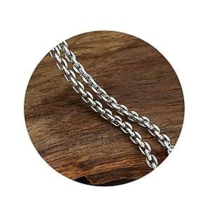 1814b1adfdaf Beydodo Collar Plata de Ley 925 Collar Hombre y Mujer Collar Cadena Redonda  Collar Hombre Mujer Collar Plata Longitud 45cm-80cm