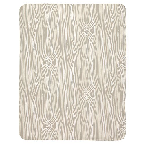 Carousel Designs Taupe Large Woodgrain Crib Blanket by Carousel Designs (Image #1)