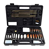 Hitaim Gun Cleaning Kit Universal Supplies for Hunting Rifle Handgun Shot Gun Cleaning Kit for All Guns with Case