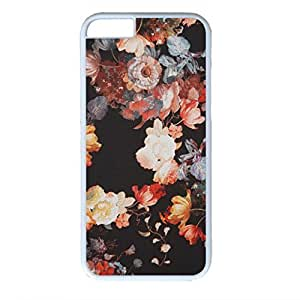 iPhone 6 Plus Case, iCustomonline Flower Pattern Protective Back Case Cover Skin for iPhone 6 Plus 5.5 inch - White by mcsharks