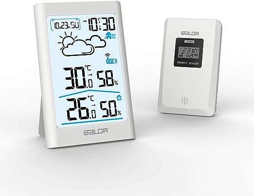 Elettrico senza fili stazione meteorologica LC-Display Celsius Fahrenheit Termometro