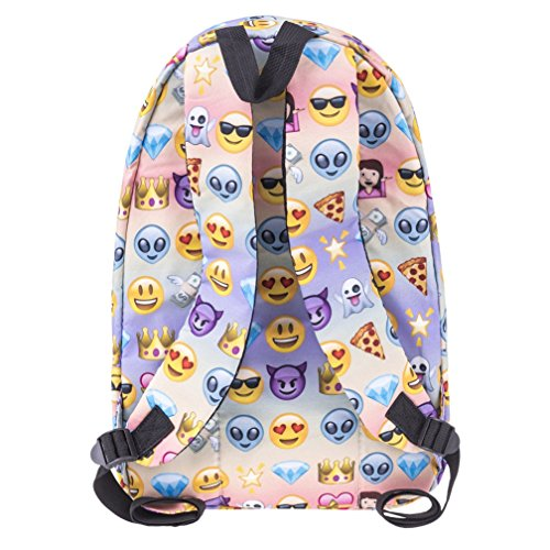 Cartoon Kfnire Monkey Teens Multi Backpack 3D Students Rainbow Print for College Bag Emoji Backpack Color School EtwT6xqnA6