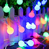 String Lights, ADORIC Festoon Lighting 10M 100 LED Battery Operated Globe Lights Waterproof, 8 Modes Lighting, Outdoor and Indoor Decoration for Halloween, Christmas, Festival