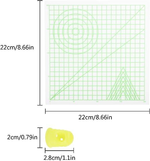 Cizen Estera para 3D Dibujo, Plantilla Básica y 2 Tapas de ...