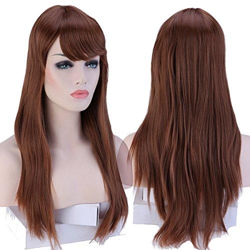 Peluca para mujer de 48, 58 y 60 cm aproximadamente, peluca lisa en las raíces y ondulada en las puntas, de S-noilite: Amazon.es: Belleza
