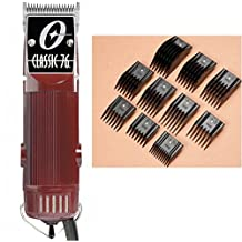 Oster Classic 76 Hair Clipper - FACTORY REFURBISHED with 000 Blade and 10-Piece comb Guide set