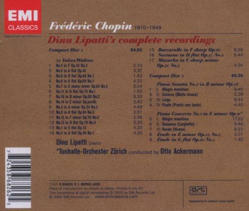Chopin: The Complete Recordings, 14 Waltzes / Piano Concerto No. 1 / Piano Sonata No. 3 by EMI Classics