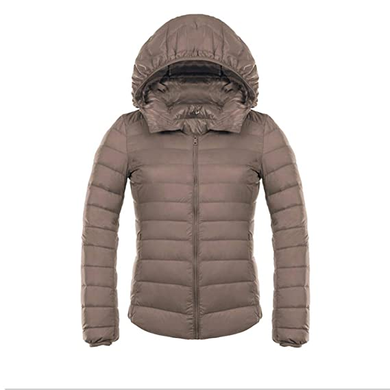 Mxssi Ultra Light Mujer Down Chaquetas Short Duck Down Doat Slim con Capucha Puffer Jacket Autumn Parkas: Amazon.es: Ropa y accesorios