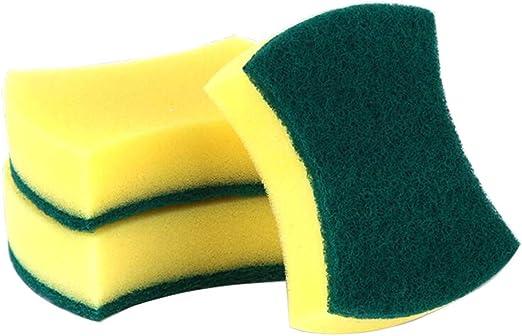 XUMIN® 12 Piezas Amarillo Verde multifunción Esponja de Limpieza ...