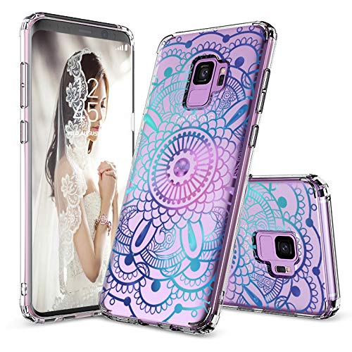MOSNOVO Galaxy S9 Case, Clear Galaxy S9 Case, Galaxy Mandala Clear Design Transparent Plastic Hard Back Case with TPU Bumper Protective Case Cover for Samsung Galaxy S9 (2018)