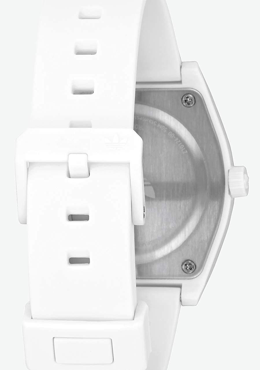 adidas Watches Process_SP1. Silicone Strap, 20mm Width (38 mm). Trefoil/White