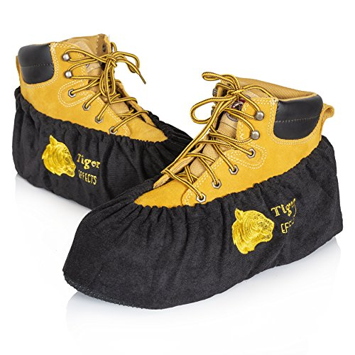 Tiger Effects Reusable Shoe Covers & Boot Protectors (Black, X - Large)]()