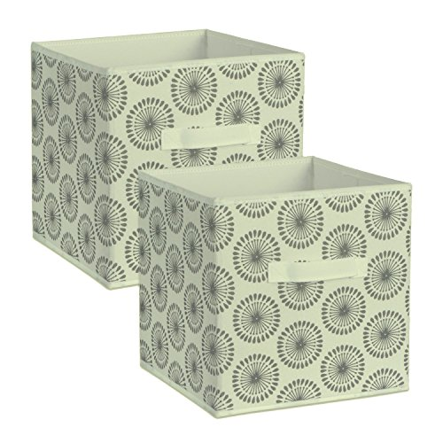 DII Foldable Fabric Storage Bins for Nursery, Offices, Home, Containers are Made to Fit Standard Cube Organizers, Small-11 x 11 x 11, Starburst Gray