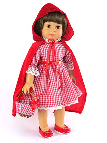 Little Red Riding Hood 18 Doll Dress | Fits 18 American Girl Dolls, Madame Alexander, Our Generation, etc. | 18 Inch Doll Clothes