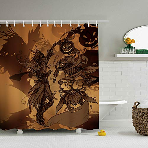 Enjoytm Halloween Drawing Contest Custom Shower Curtain Extra Long Bathroom Curtains for Housewarming Gift -