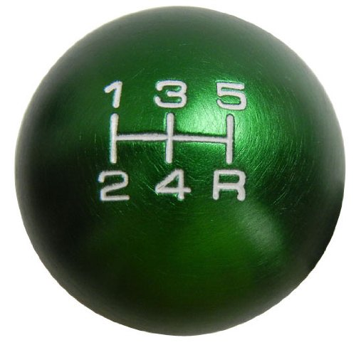 - VMS RACING 10x1.25mm Thread 5 Speed Round Ball Type-R Shift Knob in Green Billet Aluminum for Nissan Altima Maxima Sentra Primera 200SX SER 240SX S13 S14 S15 300ZX NX1600 NX2000 Nismo JDM