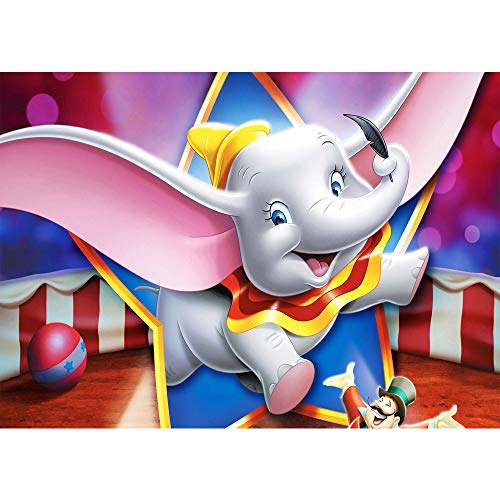 7x5ft Baby Shower Backdrop Boy Elephant Seamless Photo Background Dumbo Themed Circus Birthday Party Backdrops Customized Kids Studio Background for Photocall -