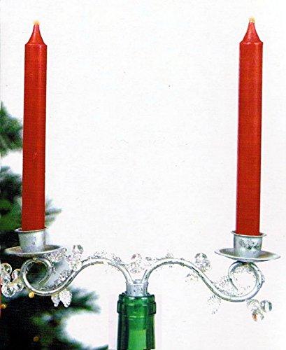 Decorative Beaded Christmas Set of 2 Double Candelabra