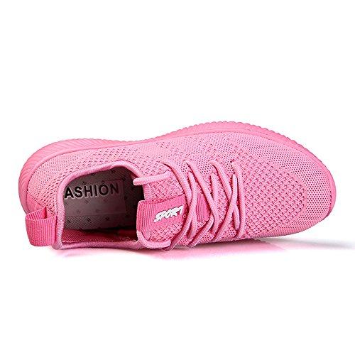 und 35 Gr Sneaker 45 Laufschuhe Herren Bequeme Pink Schuhe Damen Knit Luftdurchlässige Leichte 0Svqvp
