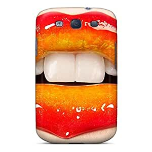 Tpu Shockproof/dirt-proof Glossy Lips Cover Case For Galaxy(s3)