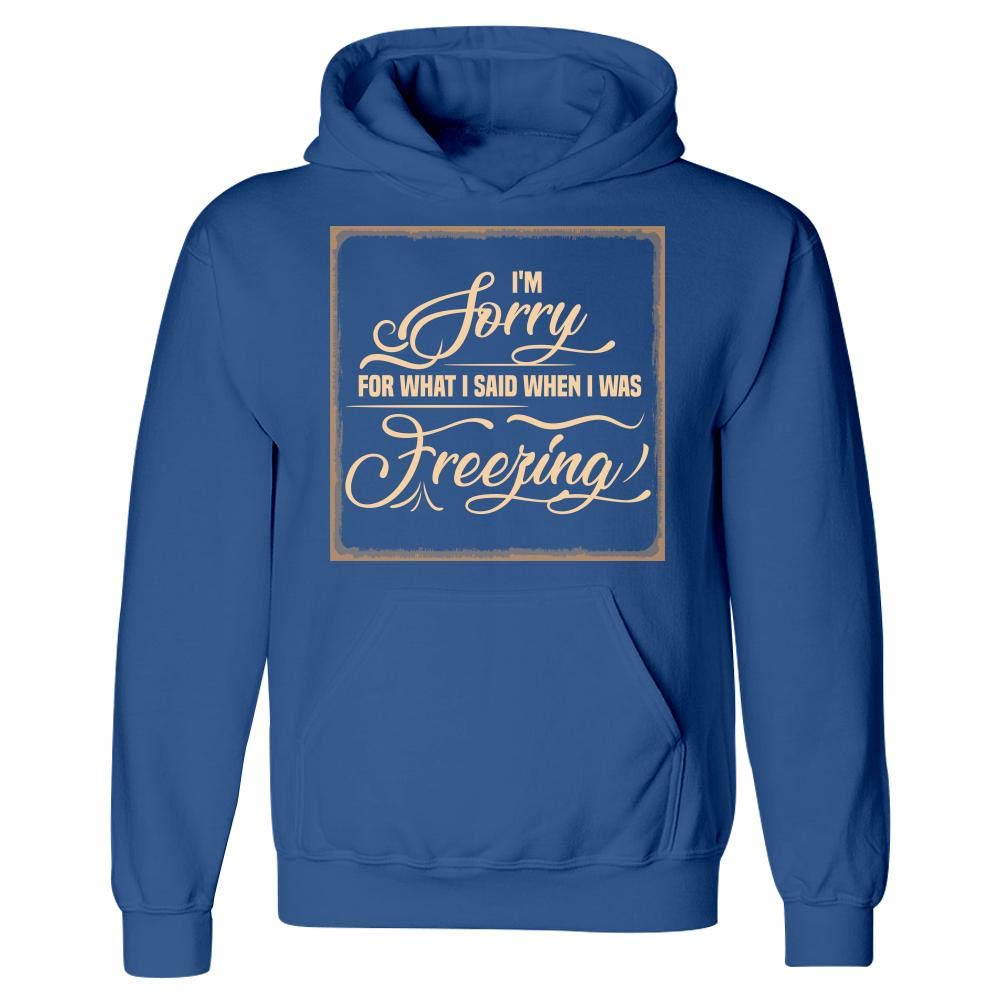 Hoodie Im Sorry for What I Said When I was Freezing Humor Funny Winter