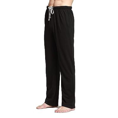 Aiklik Men's Comfortable Cotton Casual Pajama Lounge Pants at Men's Clothing store