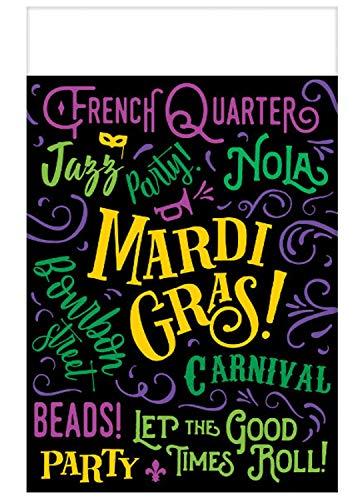 Amscan Good Times Mardi Gras Table Covers, Carnival Party Supplies, Indoor or Outdoor Use, 3 ()