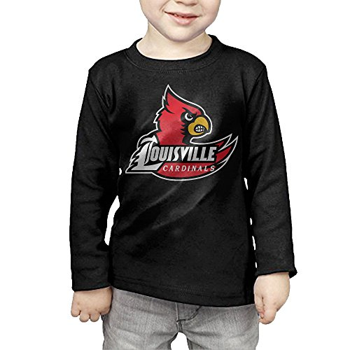 Louisville Cardinals Toddler Boys'&Girls' Crew Neck Cotton Long Sleeve T-shirt Tee
