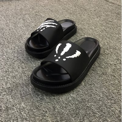 Bathroom 35 Black White Summer Slippers Men Slip Slippers Thick Outside and Cool Home and of Non Summer Trend fankou Inside The FqUyvayR