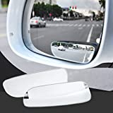 Gloriest 2 Pack Square Blind Spot Mirror 360 ABS Glass For Door Mirrors By Utopicar For Large Image And Traffic Safety