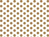 Gold and White Polka Dots Tissue Paper 20 Inch X 30 Inch - 24 X-LargeSheets
