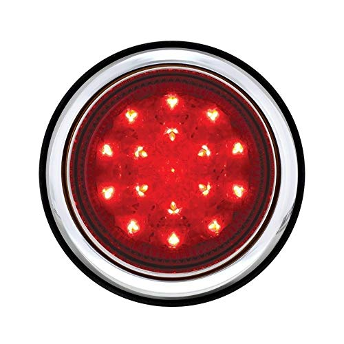 Tail Light Mounting Pad - United Pacific Chrome Flush Mount 17 Led Tail Light Assembly with Mounting Pad & Hardware