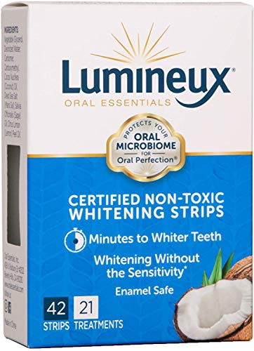 Lumineux Teeth Whitening Strips by Oral Essentials – 21 Treatments Dentist Formulated and Certified Non Toxic…