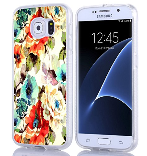 Beautiful Flower Pattern - S6 Case,Samsung Galaxy S6 Hand Painting Colorful Beautiful Floral Flower Print Pattern Theme