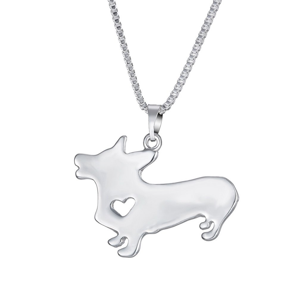 WeiVan Dog Pendant Necklace Golden Retriever Greyhound German Shepherd Dog Memorial Gift B01DO9L0FC_US