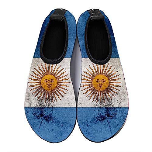 COEST Summer Outdoor Beach Swim Barefoot Shoe Argentina Flag Aqua Water Shoes Socks for Women Men 6.5-7.5 M US Women / 5.5-6.5 M US Men (Homes For Sale In Bolivia South America)