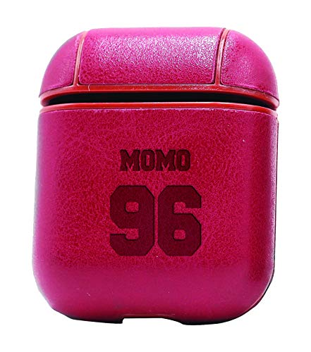 Momo Air Leather - HALLYU Kpop MOMO Twice (Vintage Pink) Air Pods Protective Leather Case Cover - a New Class of Luxury to Your AirPods - Premium PU Leather and Handmade exquisitely by Master Craftsmen