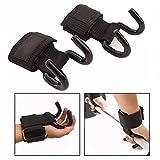 Cisixin Weight Lifting Hooks Training Wraps with Hooks Wrist Wraps Wrist Support Lift (2 PCS)