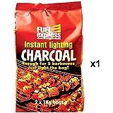 Instant Light Charcoal 2 x 1Kg Bag