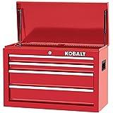 Kobalt 1000 Series 17.25-in x 26-in 4-Drawer Ball-bearing Steel Tool Chest (Red)