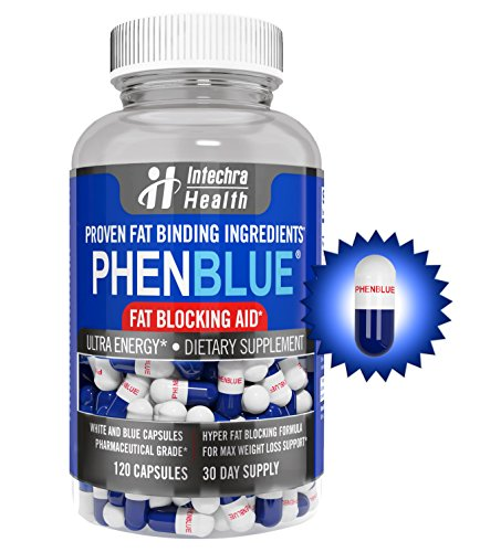 PHENBLUE Fat Blocking Aid Diet Pills, Blue & White (120 Capsules) (Phentramin D compare prices)