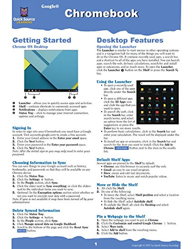Google Chromebook Quick Source Reference Guide