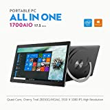 "iView-1700AIO All in One Computer/Tablet, 17.3"" Ips 1920 x 1080 Touch Screen, Intel Atom Z8350 Quad Core CPU, 4GB/32GB, Windows 10, WiFi, Front Camera, Bluetooth Keyboard and Mice"