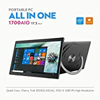"iView-1700AIO All in One Computer / Tablet, 17.3"" IPS 1920 x 1080 Touch Screen, Intel Atom Z8350 Quad Core CPU, 4GB/32GB , Windows 10, WiFi, Front Camera, Bluetooth Keyboard and Mice"